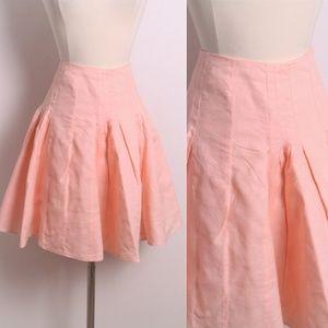Ann Taylor LOFT Light Peach Pink Linen Skirt 6